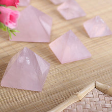 Load image into Gallery viewer, New 20-40mm Natural Rose Quartz Pyramid Stone Crystal Feng Shui