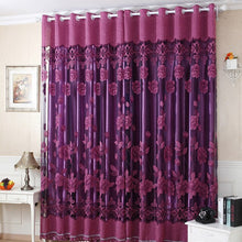Load image into Gallery viewer, Edal Floral Peony Pattern Tulle Living Room Drapery Valances Window Practical