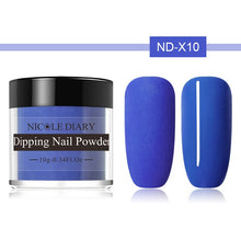 Load image into Gallery viewer, 10g Thermal Glitter Dip Nail Powder Shinny Temperature Color Changing Chrome