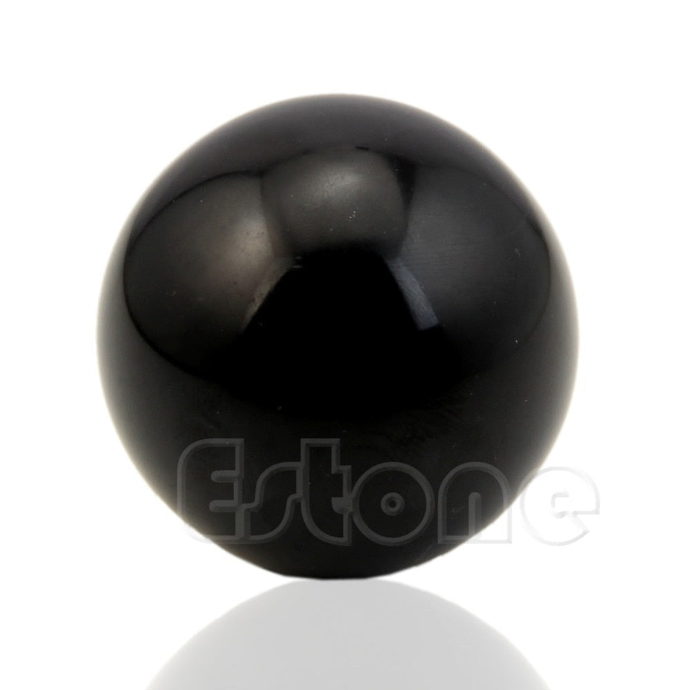 Hot Sale 50mm Black Bian Stone Hand Ball Natural  Crystal Sphere