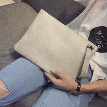 Load image into Gallery viewer, Fashion solid women's clutch bag leather women envelope bag clutch evening bag female Clutches Handbag Immediately shipping
