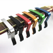 Load image into Gallery viewer, Quick Change Clamp Key Acoustic Classic Guitar Capo  For Tone Adjusting