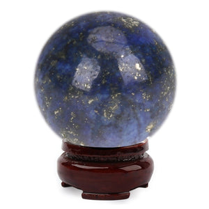 20mm Natural Lapis Lazuli Crystal FeiShui Ball Healing Sphere Large Crystal