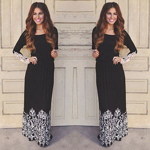 2016 Women Autum Fashion Lace sleeve Dresses  Size S-XL