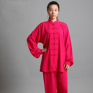Traditional Chinese Clothing 14 Color Long Sleeved Wushu TaiChi KungFu Uniform Suit Uniforms Tai Chi Exercise Clothing