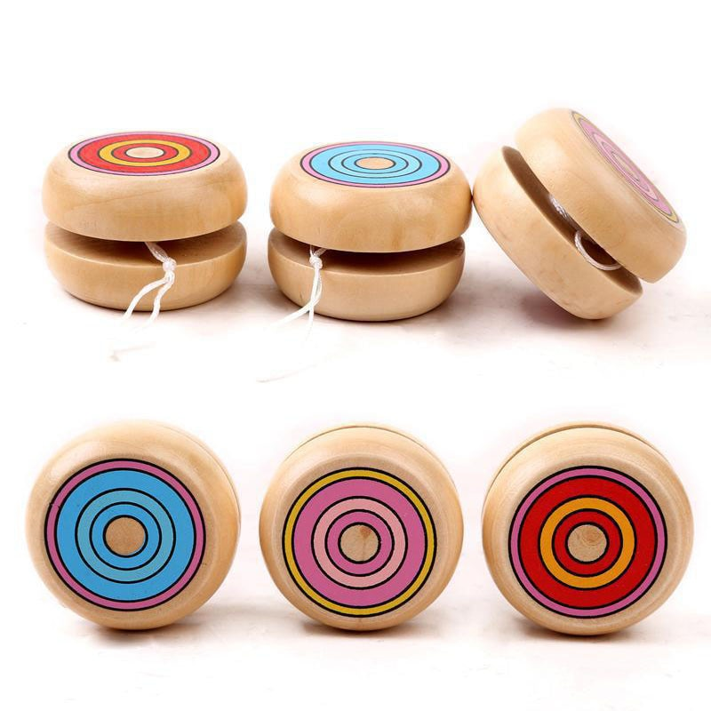 Magic Yoyo Wooden YO-YO Ball Spin Professional Classic Toys Yo Yo