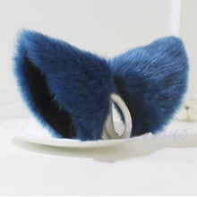Load image into Gallery viewer, Cosplay Party Cat Fox Long Fur Ears Neko Costume Hair Clip Halloween Orecchiette
