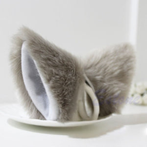 Cosplay Party Cat Fox Long Fur Ears Neko Costume Hair Clip Halloween Orecchiette