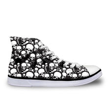 Load image into Gallery viewer, Cool Punk Skull Printed Men's High-top Canvas  Breathable Casual Lace-up Vulcanized Sneakers