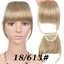 Load image into Gallery viewer, AliLeader Neat Front False Fringe Clip In Bangs Hairpiece With High Temperature Synthetic Hair