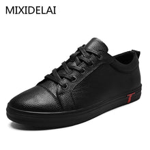 Load image into Gallery viewer, Men Genuine Leather Shoes Lace-Up Black Shoe Real Leather Loafers Mens Moccasins Italian Designer Flats Shoes Size 38-48