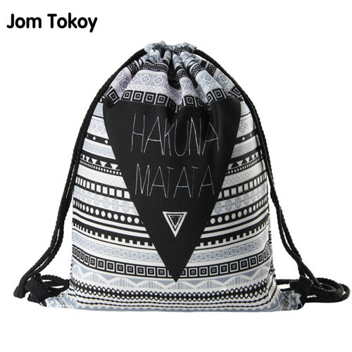 Women Geometric Backpack 3D printing travel softback