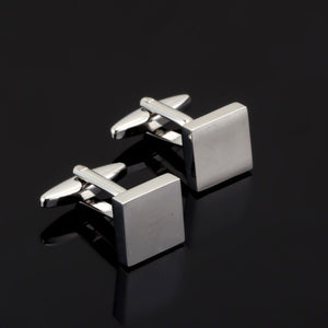 Luxury Fashion Laser Engraved Check Sudoku Design Cufflink 18 style for men