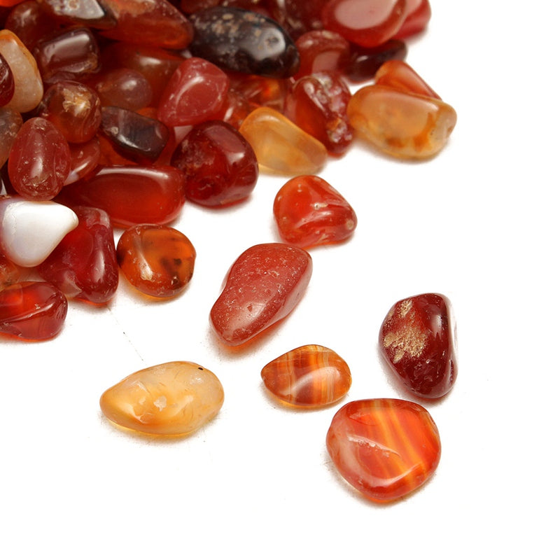 KiWarm Hot 100g Natural Tumbled Carnelian Crystal Red Gravel Agate