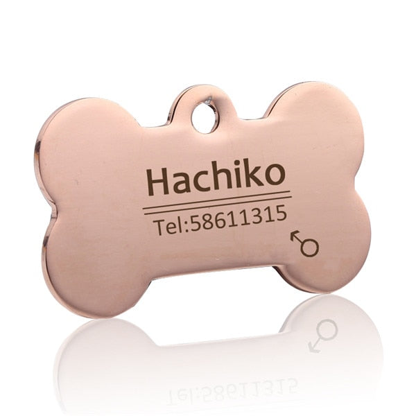 Dog Pet Cat Dog collar  Free engraving customized Pet ID  Tags Collars stainless steel