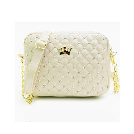 High Quality PU Leather Women Crossbody Bag Fashion Color Rivet Chain Design