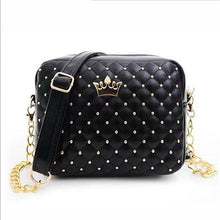 Load image into Gallery viewer, High Quality PU Leather Women Crossbody Bag Fashion Color Rivet Chain Design