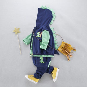 baby infant clothing set 3pcs Spring Fall suits Boys girls dinosaur clothes sets Kids Casual Suits