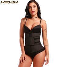 Load image into Gallery viewer, HEXIN Abdominal Belt High Compression Zipper Plus Size Latex Waist Cincher Corset Underbust Body Fajas Sweat Waist Trainer