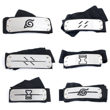 Load image into Gallery viewer, Anime Naruto Cosplay Headband Uzumaki Naruto Kakash Forehead Fashionable Guard Head Band Cosplay Accessories Kids Toy Gifts