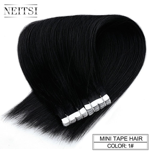 Neitsi Mini Tape In None Remy Human Hair Adhesive Extension 12