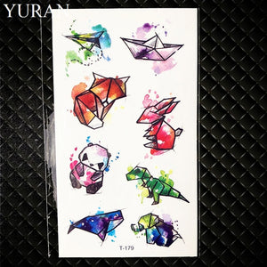 Hot Small Sexy Lips Leaf Black Cartoon Temporary Tattoo Cute Star Tattoo Sticker