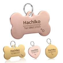 Load image into Gallery viewer, Dog Pet Cat Dog collar  Free engraving customized Pet ID  Tags Collars stainless steel