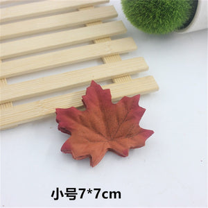 50pcs simulation scene layout decoration falling artificial silk flower living home decoration simulation maple leaf leaves 7cm