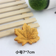 Load image into Gallery viewer, 50pcs simulation scene layout decoration falling artificial silk flower living home decoration simulation maple leaf leaves 7cm