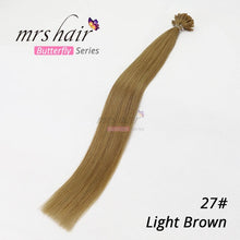 "Load image into Gallery viewer, MRS HAIR 1g/pc 14"" 16"" 20"" 24"" Fusion Hair Extensions Straight Machine Made Remy Nail Hair Keratin Pre Bonded Human Hair 50pcs"