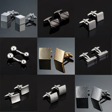 Load image into Gallery viewer, Luxury Fashion Laser Engraved Check Sudoku Design Cufflink 18 style for men