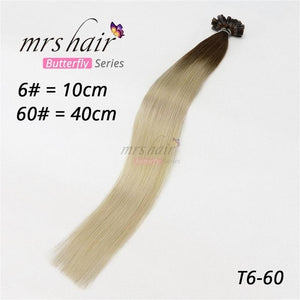 "MRS HAIR 1g/pc 14"" 16"" 20"" 24"" Fusion Hair Extensions Straight Machine Made Remy Nail Hair Keratin Pre Bonded Human Hair 50pcs"