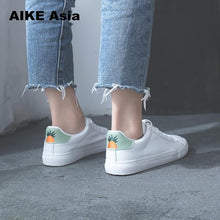 Load image into Gallery viewer, Women Sneakers 2018 Fashion Breathble Vulcanized Shoes Pu leather Platform Lace up Casual White  Tenis Feminino Zapatos De Mujer