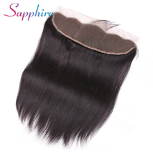 Load image into Gallery viewer, Sapphire Hair Ear to Ear Lace Frontal Closure 13X4 Free Part With Baby Hair Brazilian Straight Human Hair Non Remy Hair