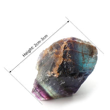 Load image into Gallery viewer, Colorful Natural Fluorite Crystal Striped Fluorite 1.5-65CM Quartz Crystal Stone Point
