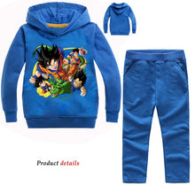 Load image into Gallery viewer, Tiny Cottons  Fall  Anime Fashion Print Dragon Ball Hoodie Pants 2pcs Set Kids Clothing Sportswear