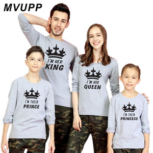 King Queen Baby Boy Winter Clothes Fashion Style Mathing Outfit