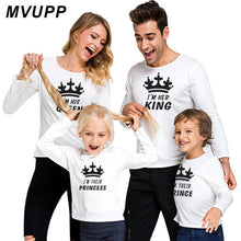 Load image into Gallery viewer, King Queen Baby Boy Winter Clothes Fashion Style Mathing Outfit