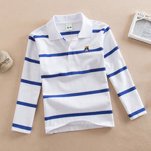 Load image into Gallery viewer, Polo Shirt Kids Clothes Stripes Boys Shirts Tops Cotton Camisetas Autumn Long Sleeve Shirt Casual Carters Polos  Teen 3T-10T