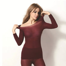 Load image into Gallery viewer, Thermal Underwear For Women Sexy Warm Long Johns For Women Seamless Winter Thermal Underwear Set Warm Thermos Clothing Women/Men