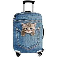 Load image into Gallery viewer, Stretch Fabric Cute Cat  Protective Cover Suit 18-32 Inch Trolley Suitcase Case Covers Travel Accessories