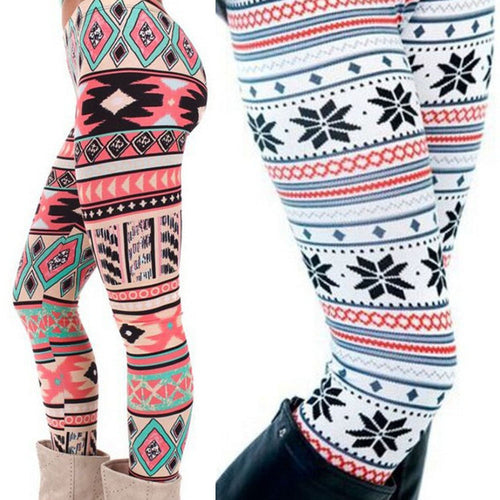 Printed Stretchy Pants Leggings,