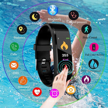 Load image into Gallery viewer, Waterproof Smart Bracelet  115 Plus Blood Pressure Monitoring Heart Rate Monitoring Smart Wristband
