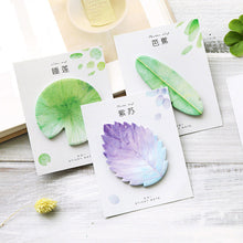 Load image into Gallery viewer, Cute Kawaii Natural Plant Leaf Sticky Note Memo Pad Note Office Planner Sticker Paper Korean Stationery School Supplies