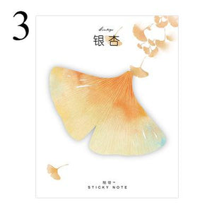 Cute Kawaii Natural Plant Leaf Sticky Note Memo Pad Note Office Planner Sticker Paper Korean Stationery School Supplies