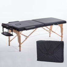 Load image into Gallery viewer, Folding Beauty Bed 180cm length 60cm width Professional Portable Spa Massage Tables Foldable with Bag Salon Furniture Wooden
