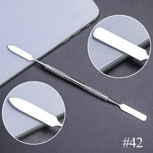 Load image into Gallery viewer, 10 Style Stainless Steel Cuticle Remover Double Head Pusher Finger