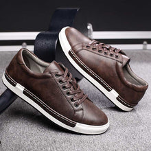 Load image into Gallery viewer, Retro Casual Men Breathable Sneakers Leather Flat Vulcanize  Outdoor High Quality Footwear Size 38-46