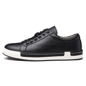 Retro Casual Men Breathable Sneakers Leather Flat Vulcanize  Outdoor High Quality Footwear Size 38-46