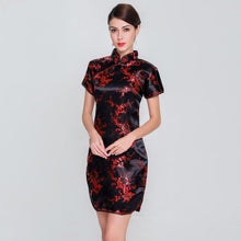 Load image into Gallery viewer, Elegant Slim Plus Size Qipao 2019 New Chinese Female Rayon Dress Mandarin Collar Vintage Cheongsam Vestidos S-3XL 4XL 5XL 6XL